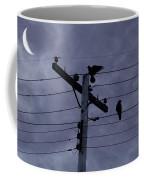 Crows And A Crescent Moon Coffee Mug