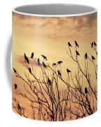 Crows In Their Twitter Cloud. Coffee Mug