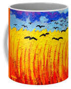Crows Over Vincent's Field Coffee Mug