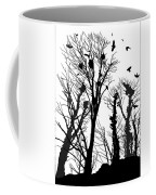 Crows Roost 1 - Black And White Coffee Mug