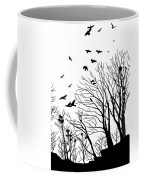Crows Roost 2 - Black And White Coffee Mug
