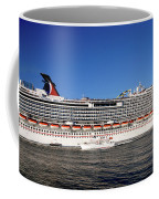 Cruise Ship Is Leaving The Port Coffee Mug