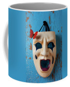 Crying Mask And Red Butterfly Coffee Mug
