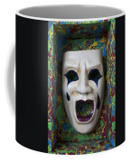 Crying Mask In Box Coffee Mug by Garry Gay