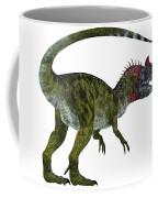 Cryolophosaurus Dinosaur Tail Coffee Mug