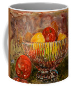 Crystal Bowl Of Fruit Coffee Mug
