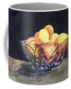 Crystal Bowl With Fruit Coffee Mug