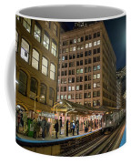 Cta Pulls Into The State-lake Street Station Chicago Illinois Coffee Mug