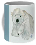 Cuddly Polar Bear Watercolor Coffee Mug