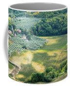 Cultivated Vineyards Tuscany  Italy Coffee Mug