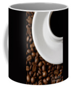 Cup Of Black Coffee On Coffee Beans Coffee Mug