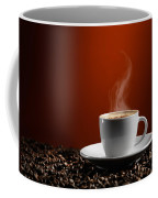 Cup Of Coffe Latte On Coffee Beans Coffee Mug