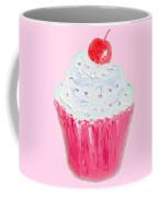 Cupcake Painting On Pink Background Coffee Mug