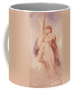 Cupid And Psyche Coffee Mug by William Adolphe Bouguereau