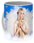 Cupid Angel Of Love Flying High With Fairy Wings Coffee Mug