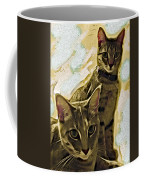 Curious Cats Coffee Mug by David G Paul