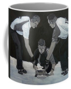 Curling Coffee Mug by Richard Le Page