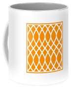 Curved Trellis With Border In Tangerine Coffee Mug