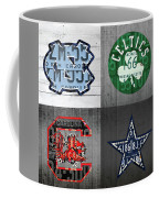 Custom 4 Team License Plates Sport Art No 1 Coffee Mug