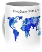 Custom World Map Coffee Mug