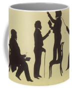 Cut Silhouette Of Four Full Figures 1830 Coffee Mug