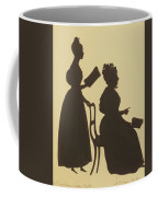 Cut Silhouette Of Two Women Facing Right 1837 Coffee Mug