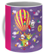 Cute Animals In Air Balloon Coffee Mug