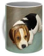 Cute Beagle Coffee Mug by Angeles M Pomata