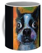 Cute Boston Terrier Puppy Art Coffee Mug