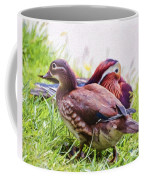 Cute Couple - Mandarin Ducks Coffee Mug
