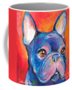 Cute French Bulldog Painting Prints Coffee Mug by Svetlana Novikova