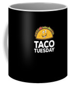 Cute Funny Taco Tuesday Smiling Taco Coffee Mug