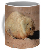 Cute Ground Squirrel Burrowing In The Dirt Coffee Mug