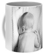 Cute Newborn Baby Black And White Coffee Mug