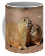 Cute Prairie Dog Nipping At His Friend Coffee Mug