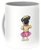 Cute Pug Puppy Coffee Mug