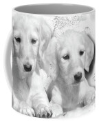 Cute White Salukis With Puppies Coffee Mug
