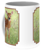 Cute Whitetail Deer Fawn Coffee Mug by Crista Forest