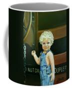 Cutie By The Train Coffee Mug