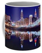 Cuyahoga Reflecting The City Above Coffee Mug