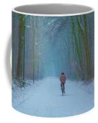 Cycling In The Snow Coffee Mug