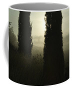 Cypress Trees Looming In Front Coffee Mug by Todd Gipstein