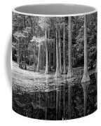 Cypresses In Tallahassee Black And White Coffee Mug