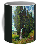 Cypresses With Two Figures, By Vincent Van Gogh, 1889-1890, Krol Coffee Mug