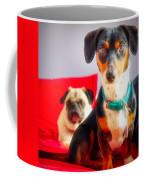 Dachshund Dog, Pug Dog, Good Time On Bed Coffee Mug