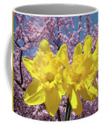 Daffodil Flowers Spring Pink Tree Blossoms Art Prints Baslee Troutman Coffee Mug