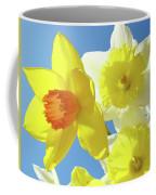 Daffodils Art Print Floral Sky Bouquet Daffodil Flower Baslee Coffee Mug