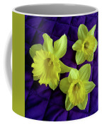 Daffodils On A Purple Quilt Coffee Mug