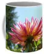 Dahlia Floral Garden Art Prints Canvas Summer Blue Sky Baslee Troutman Coffee Mug