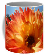 Dahlia Floral Orange Yellow Flower Botanical Art Prints Canvas Baslee Troutman Coffee Mug